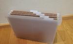無印良品のファイルボックスとハンギングホルダー